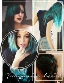 Resultado de imagem para turquesa hair